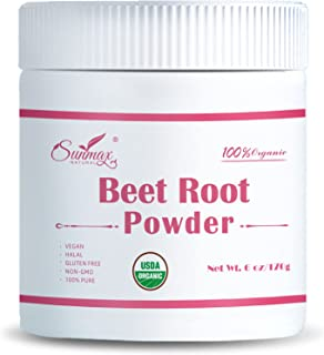 Organic Beetroot Powder is Certified Organic and is Rich in Iron and Folic Acid. It is A Super Food Powder That Improves S...