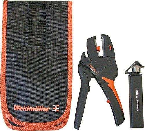 Weidmüller Stripax® Abisolierzange 0,08... 10 mm² - Weidmüller Abmantelwerkzeug AM25 - Weidmüller Gürteltasche aus Kordura Material