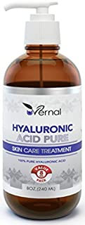 Hyaluronic Acid for Skin - 100% Pure Medical Quality Clinical Strength Formula - Anti aging formula (8 oz)