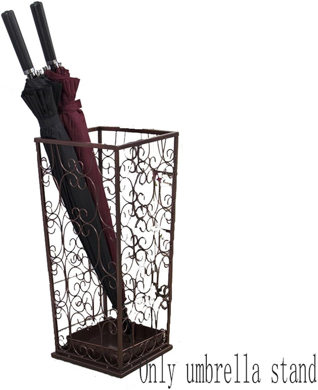 ZH1 Umbrella Stands Umbrella Stand Multifunction Storage Bucket (color   Bronze)