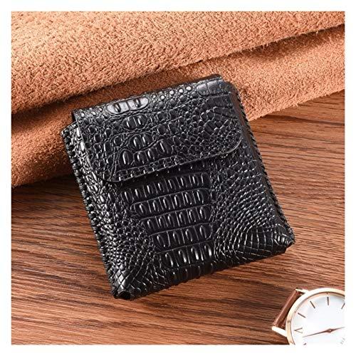 JDDRCASE Männer Mobiltelefon Echtleder Taille Tasche Gürtel Clip Pouch Business Leder Cover für Motorola RAZR 4G 2019 (6,2 Zoll) (Farbe : Black A)