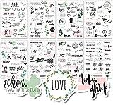 Sticker Hochzeit Gästebuch (8 Bögen) - Vintage Hochzeit Aufkleber für Gästebuch oder Fotoalbum mit viel Liebe - Love Stickers für Scrapbook oder Bullet Journal - Wedding Deko mit Herz -...