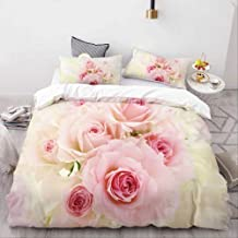 Duvet Cover Set, 3D Printing Rose Floral Bedding Set Luxury Home Textiles Duvet Cover Set Pillowcase 2/3Pcs Wedding Beddin...