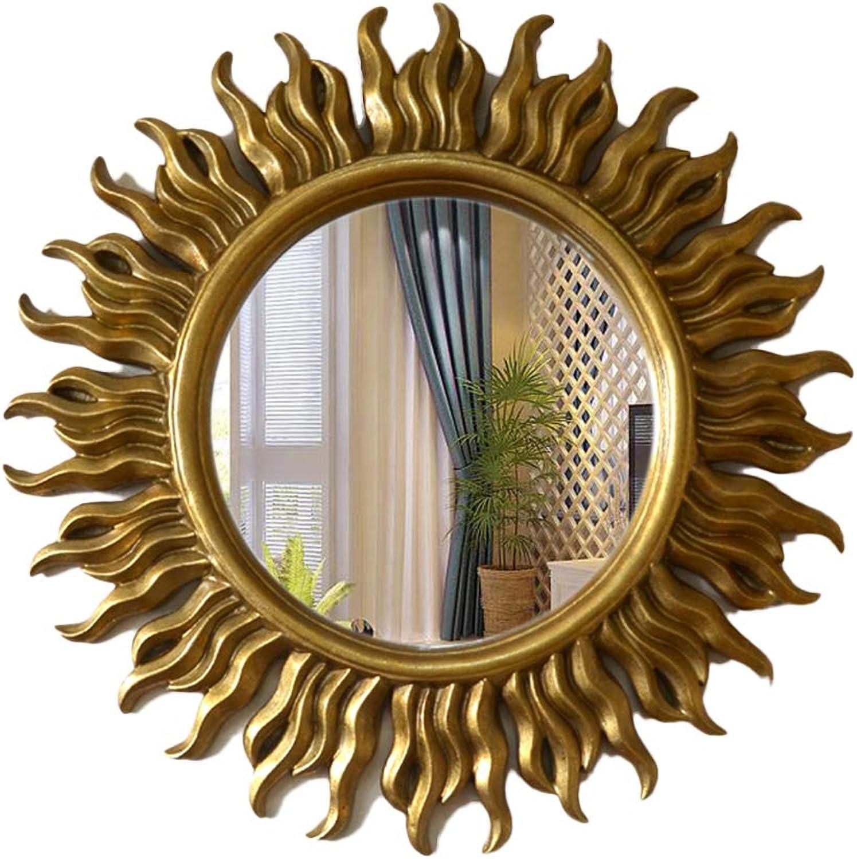 Wall Decorative Mirror, Living Room Wall Mirror Entrance Mirror Round Mirror Fireplace Decorative Mirror Art Mirror,D43CM