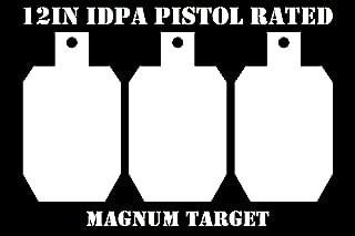 12in.Tall IDPA/ISPC Pistol Targets - 3/8in. Steel Targets - 3pc. Metal Plate Set