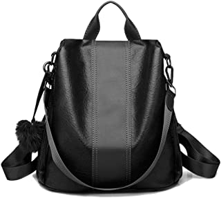 chinatera Women Backpack Purse Waterproof Anti-Theft Lightweight PU Leather Fashion Purse Shoulder Bag Travel Backpack Ladies