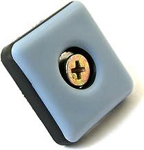 GLEITGUT 4 x Teflon glijders voor schroeven hoekig 30 x 30 mm PTFE meubelglijders 5 mm dik
