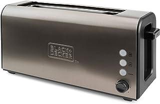 Black+Decker BXTO1000E Tostadora de Pan con Ranura Larga y Extra Ancha, 7 Niveles de Tostado, Sistema Auto-centrado, Funci...
