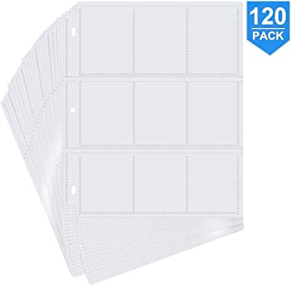 POKONBOY 1080 Pockets Trading Card Sleeves Trading Card Pages Storage Album Pages Card Collector Coin Holders Wallets Slee...