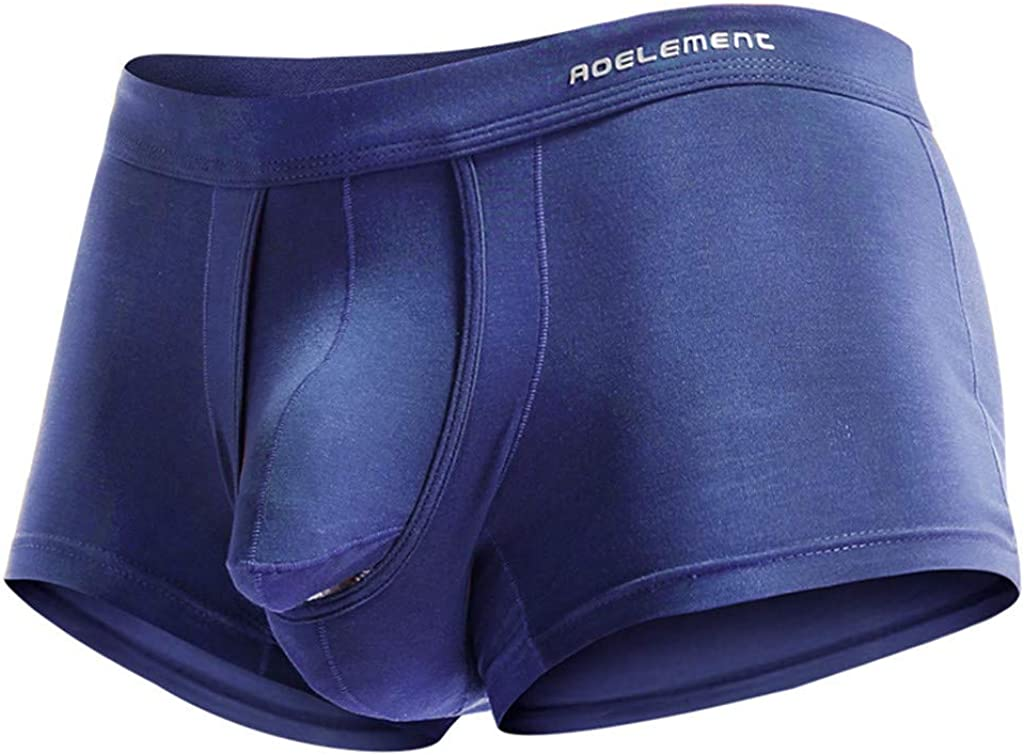 Men Elephant Briefs,New Sexy Open Sleeve Bulge Pouch Breathable Comfy Underwear