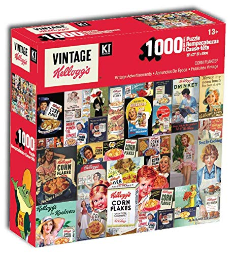 1000Pc Kellogg's Retro Boxes Collage 27x20 Vintage Advertisements Colorful Jigsaw Puzzle