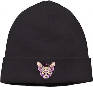 Winter Knitting Wool Warm Hat Daily Slouchy Hats Beanie Skull Cap, Flower Skull