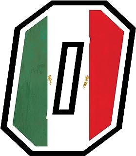 Adesivo NUMERO GARA - da 8 a 14 cm - BANDIERA MESSICANA MESSICO - Motocross Pista Auto Moto Stickers TUTTI I NUMERI