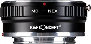 Lens Mount Adapter K&F Concept Copper Adapter Compitable with Minolta MD MC Lens to Sony NEX E-Mount Camera