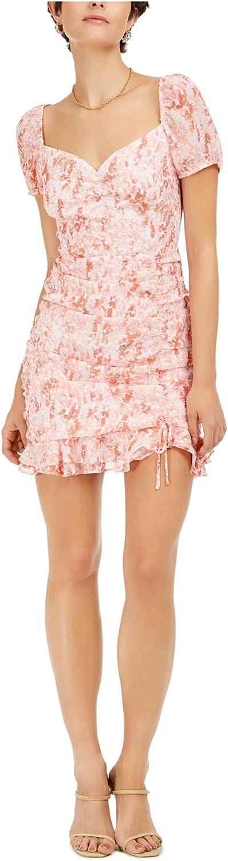 bar III Womens Dress Sheath Ruched Sweetheart-Neckline Pink 14