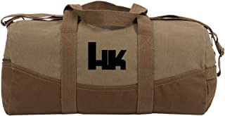 """HK Heckler and Koch Two Tone 19"""" Duffle Bag with Brown Bottom, Detachable Strap"""