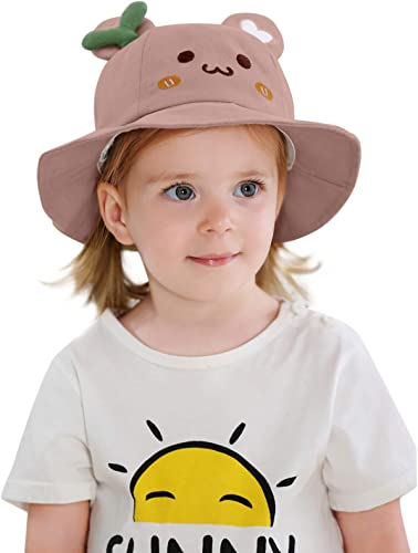 lowest Kids Summer Sun Protection Hat Cute Toddler Baby outlet online sale high quality Bucket Hat Outdoor Beach Hat with Wide Brim outlet sale