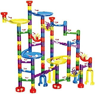 122Pcs Marble Run Toy Marble Game Educational Construction Building Blocks Toy for Kids