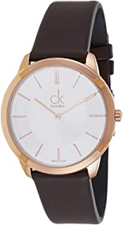 Calvin Klein Women's Silver Dial Leather Band Watch - K3M216G6