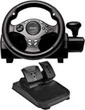 $119 » DOYO 270 Degree Motor Vibration Driving Gaming Racing Wheel with Responsive Gear and Pedals for PC/PS3/PS4/XBOX ONE/XBOX 360/NIntendo Switch/Android