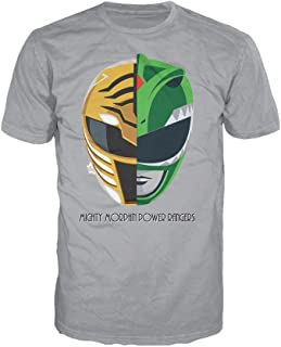 White-Green Ranger Face Off Official Men's T-Shirt (Heather Grey)