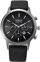 Lookatool NORTH Sports Luxury Mens Leather Band Analog Quartz Watches Wrist Watch
