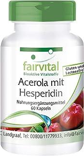 Acerola con Hesperidina - VEGANO - 60 Cápsulas - con vitamina C y extracto