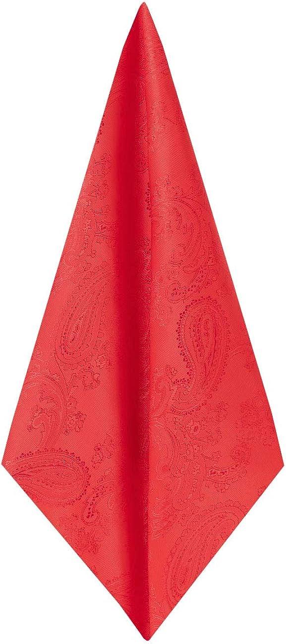Dobell Mens Red Paisley Handkerchief