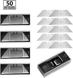 BIBURY Heavy Duty Utility Knife Blades SK5 Steel Standard Size 5 Portable Box(A Box of 10..