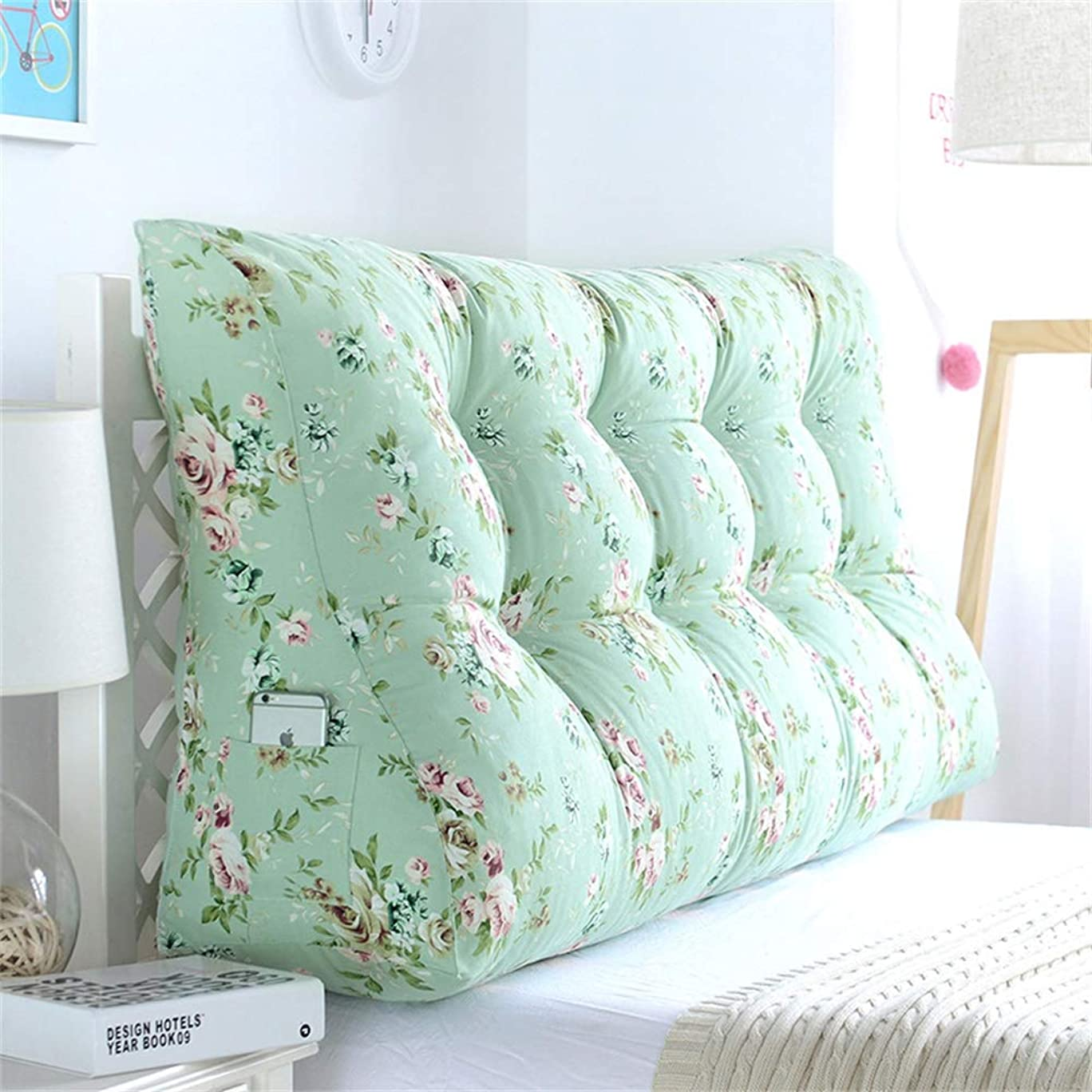 クローン免疫するパテGLP ベッドサイドクッション三角背もたれ腰のソファ大きな枕張りパッド22色&8サイズで取り外し可能 (Color : S, Size : 150x30x60cm)