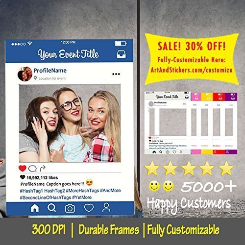 Customized Instagram Frame Cutout Selfi Prop For Graduation Parties