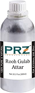 PRZ Rooh Gulab Attar For Unisex (300ML) - Pure Natural Premium Quality Perfume (Non-Alcoholic)