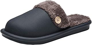 INMINPIN Invernali Pantofole Donna Uomo Caldo Peluche Ciabatte da Casa Leggero Impermeabile Cotone Scarpe Interno Esterno