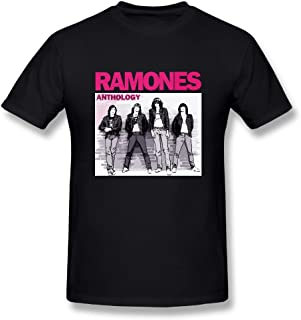 UrsulaA Men's Fashion Ramones Tshirt Black