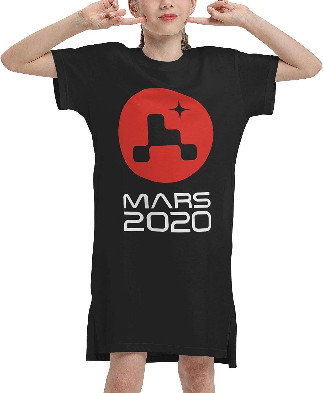 Mars 2020 Girls' Short Sleeve Dress Casual Dress Summer T-Shirt Dress