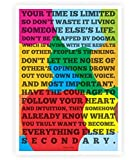 Lab No. 4 Time Is Limited Steve Jobs Apple Quotes Poster In