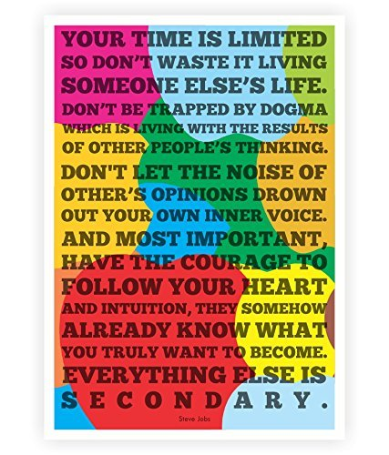 Lab No. 4 Time Is Limited Steve Jobs Apple Quotes Poster In A3 Size