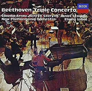 BEETHOVEN: TRIPLE CONCERTO, BRAHMS: DOUBLE CONCERTO by HENRYK SZERYNG, JANOS STARKER CLAUDIO ARRAU (2014-08-03)