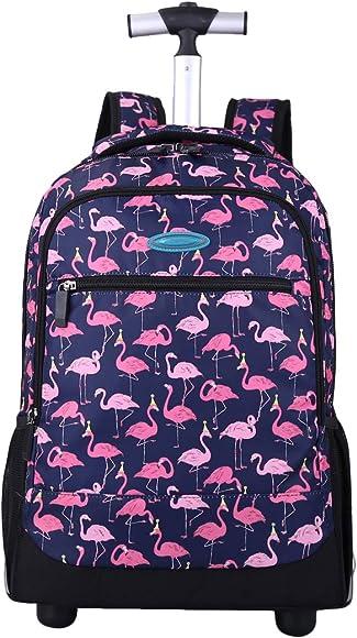 Rugzak trolley flamingo paars
