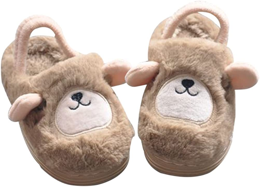 Max 61% OFF TINKSKY Boys Girls Cute Soft Slippers Non-slip 100% quality warranty Warm Home Winter
