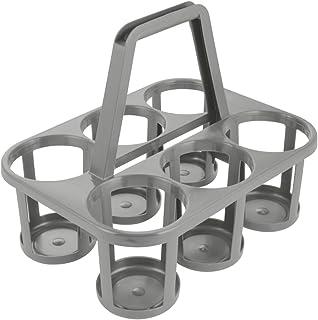 keeeper Porte-Bouteilles, Transport jusqu'à 6 Bouteilles, Plastique Robuste (PP), 34 x 26 x 28 cm, Gris Granit