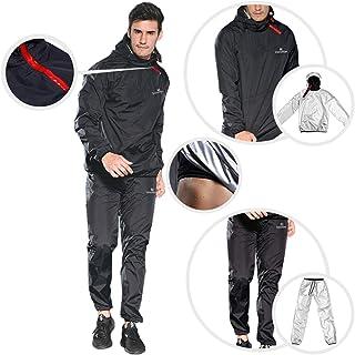 VeroMan メンズ サウナスーツ 上下セット サウナパンツ トレーニングウェア 超発汗 ダイエット