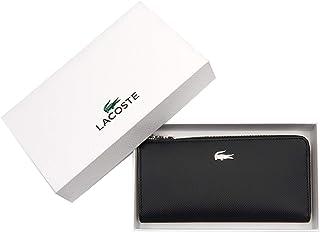 0b138eac64 LACOSTE Portefeuille en Similicuir pour Dames - Slim Zip Wallet,  10x19x2,5cm (HxLxP