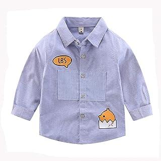 Dragon Honor 子供服 ボーイズ シャツ 長袖 綿製 カジュアル 秋冬 キッズシャツ 男の子 ブラウス