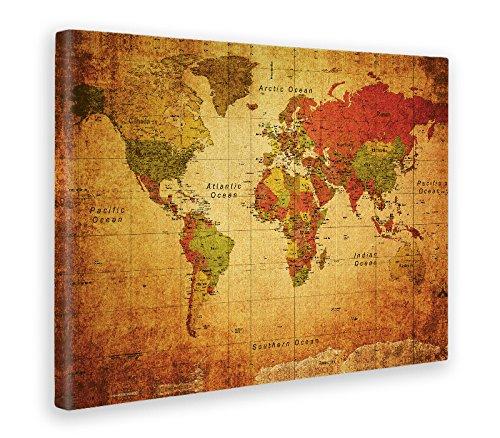 Giallobus - Cuadro - Impresion EN Lienzo - World Map