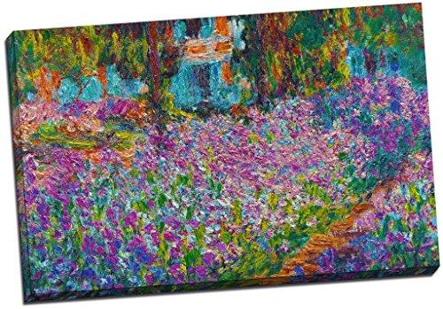 Kunstdruck auf Leinwand, Motiv Claude Monet Garten in Giverny, groß, 76,2x 50,8cm