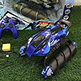Nixi888 2 in 1 RC Terrain Twister Boat Waterproof Land Water 2.4GHz Remote Control Boat High Speed Yacht Children Game Boat Water Toy for Boy Girl Adult Gift (Color : Camouflage Blue (2 Batteries))