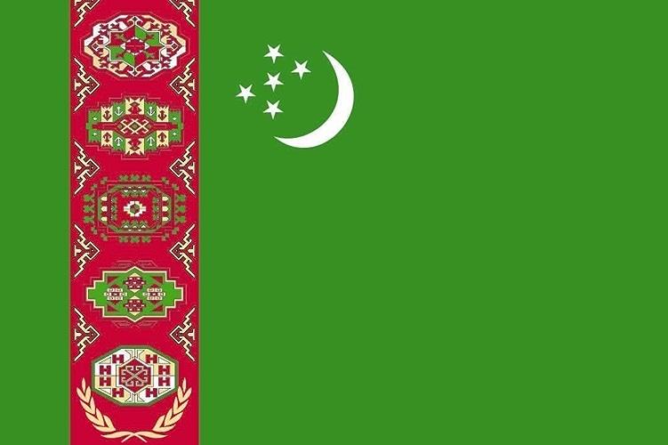 Haute Qualité pour bateau U24Drapeau du Turkménistan Drapeau 120x 180cm