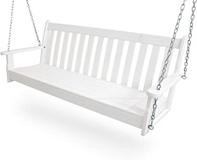 """POLYWOOD GNS60WH Vineyard 60"""" Swing, White"""