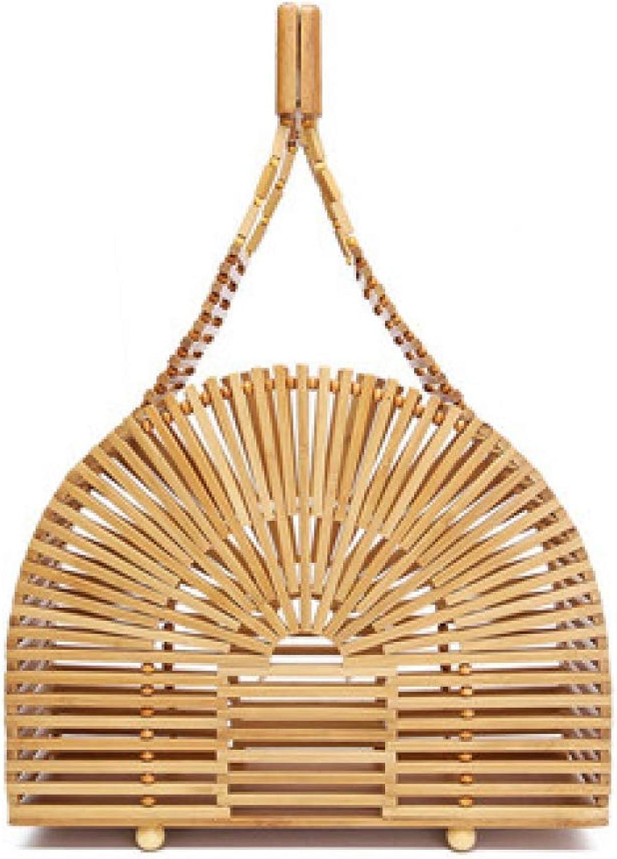 Bamboo Bag Women Handmade Woven Straw Bag Female Travel Bohemian Beach Bags Girls Small Handbags Vintage